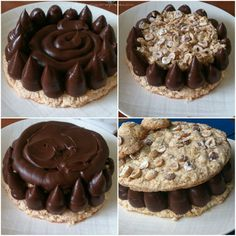 Tort cu bezea de alune si ciocolata | Pleziruri Confectionery, Deserts, Muffin, Food And Drink, Keto, Sweets, Cookies, Breakfast, Crack Crackers