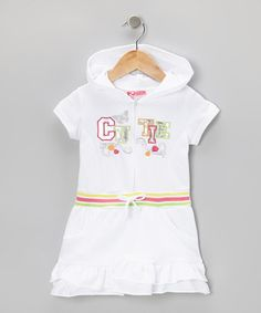 Take a look at this White 'Cutie' Ruffle Romper - Infant, Toddler & Girls by 2B Real on #zulily today!