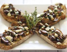 Mushroom Bruschetta  #bruschetta #mushroom #vegetarian #tuzubiberi