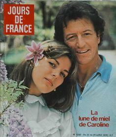 Jours de France - Caroline with ex-husband Philippe Junot