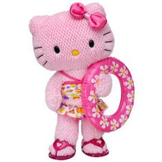 even hello kitty is ready for the pink pool party