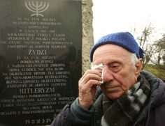 One of the people saved by Oskar Schindler at a ceremony in Poland in 2008.