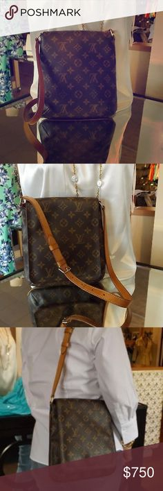 "Louis Vuitton Monogram Musette Salsa shoulder Bag Clean bag! no damage or outstanding issues to report! GREAT everyday bag! Comes with dustcover. 💥EXCELLENT CONDITION💥Magnetic snap. Made in 🇺🇸, 1 slip interior pocket, adjustable buck strap drop 9""-13"". Rarely used. Date code SD7001. Guaranteed authentic or your money back. Louis Vuitton Bags Shoulder Bags"