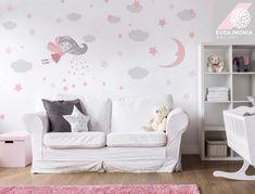 Naklejki na ścianę WRÓŻKI chmurki, lóżeczko sen - Eudajmonia_WallArt1 - Naklejki na ścianę dla dzieci Star Magic, Star Cloud, Kids Bedroom, Wall Decals, Fairy, Kids Rugs, Clouds, Trending Outfits, Wallpaper