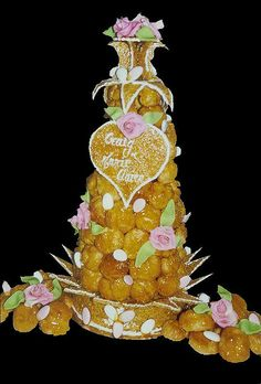 Beautiful celebration croquembouche