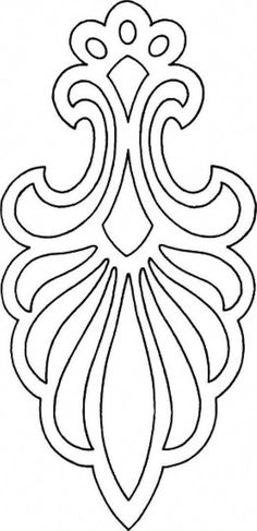Hanging Ornaments - Scroll saw - Woodworking Archive Stencil Patterns, Stencil Designs, Embroidery Patterns, Hand Embroidery, Sailboat Drawing, Doodle Drawing, Drawing Drawing, Scroll Saw Patterns, Leather Pattern
