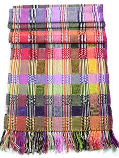 """""""Volta""""double cloth scarf  Hattie Rae, handwoven in England"""