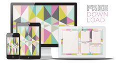 September free desktop wall paper download for iphone ipad and blogger organiser Harlequin Kaleidoscope Blog