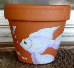 Snowball                              6 inch flower pot  acrylic