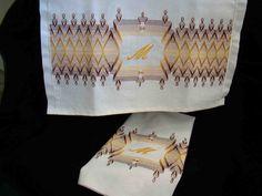 Sueco Weaving Huck Weaving Embelezada chá por FuzzyDuckCreations