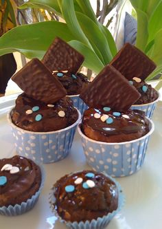 Chocolate Cupcakes Chocolate Cupcakes, Muffin, Breakfast, Desserts, Food, Morning Coffee, Muffins, Meal, Deserts
