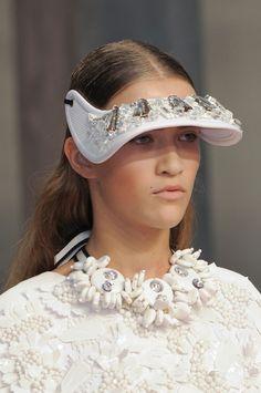 Blanc Slate  #MARNI showing how to make heavy jewels sporty!