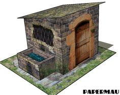 This is a simple paper model of an Ancient Fountain House.  I believe it will be useful  for  Dioramas, RPG and Wargames. Have fun!    Est...