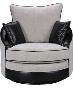 Buy Nebraska Fabric Cuddle Chair - Grey at Argos.co.uk, visit Argos.co.uk to shop online for Armchairs and chairs