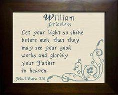 William Name Blessings Design