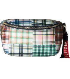 Running Belt Fanny Pack Waist Bag Women and Men and White Plaid Belt Bag Chest Handbag Shoulder Money Belt Bag Purse