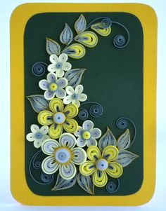 Quilling Card Love quilling card Birthday by QuillyVicky on Etsy