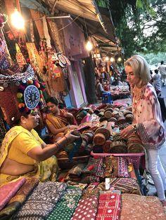 New Delhi,India.  The best street market.  These ladies have amazing vintage treasures!