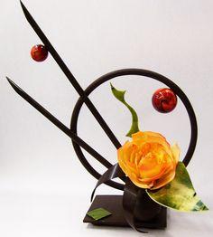 Stunning chocolate showpiece
