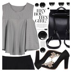 """Black and White"" by pastelneon ❤ liked on Polyvore featuring Oris"