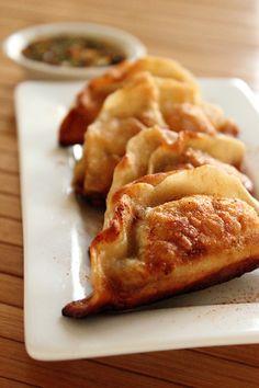 Home Skillet - Cooking Blog: Creative Cooking Crew: Vegan Challenge - Mixed Mushroom Yakitori and Mushroom Scallion Potstickers