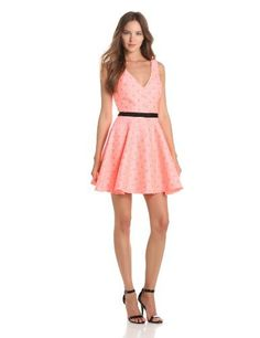 DV by Dolce Vita Women's Stacie Dress, Neon Coral, Small DV by Dolce Vita,http://www.amazon.com/dp/B00CFFFH4W/ref=cm_sw_r_pi_dp_kXsVrb015B694DA3