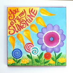 Nursery Decor for Girls You Are My Sunshine 12x12 by nJoyArt, $60.00