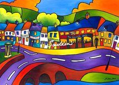 Home Ground Newport County Mayo by Saileen Drumm on ArtClick.ie Irish Art - County Mayo Artwork Prints, Fine Art Prints, Irish Art, Limited Edition Prints, Landscape Art, Online Art Gallery, Fine Art Paper, Graffiti, Art Pieces