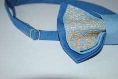 Embroidered bowtie. Great gift for him Embroidered bow tie Blue Light sky blue #bowtie    Colour: blue, light sky blue Size:7*12 cm/2,7'' * 4,7'' inches.   If you need other colour or size just let me know.  I'll... #hipster #bowties