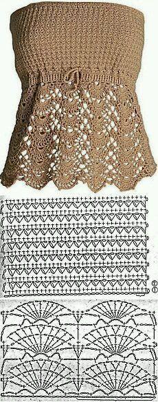 Crochet top pattern free posts 15 new ideas Tops A Crochet, Débardeurs Au Crochet, Gilet Crochet, Mode Crochet, Crochet Shirt, Crochet Woman, Crochet Stitches, Crochet Patterns Free Tops, Crochet Vests