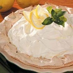Lemon Pie in Meringue Shell Recipe -A delicious and different dessert, this lemon pie is a part of all our family's special occasions. Typically, I prepare it the day before and refrigerate overnight. Still, its sunny yellow filling and creamy topping make me want to dive right in.