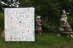 squared (a finished quilt, and a giveaway!)