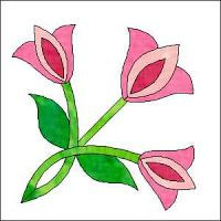 Morning Glory Designs: Tulip Tiles Block of the Month Block Flower Applique, Applique Patterns, Applique Quilts, Applique Designs, Quilting Designs, Quilt Patterns, Craftsman Quilts, Rose Of Sharon, Block Of The Month