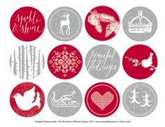 These are Free Printables but thought I could use them for my Dec Daily and Project life Dec journaling