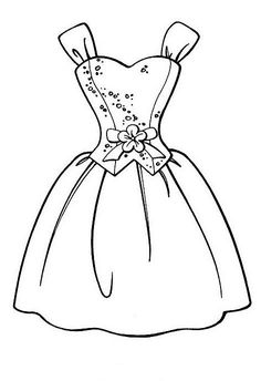 Art Drawings For Kids, Easy Drawings, Colouring Pages, Coloring Books, Dress Design Drawing, Techniques Couture, Digital Stamps, Printable Coloring, Coloring Pages For Kids