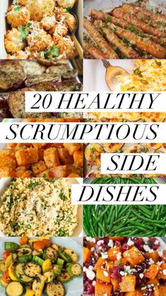 20 Healthy Scrumptious Side Dishes - Captain Decor Start your year off right with these wonderful, healthy side dishes! Steak Side Dishes, Side Dishes For Chicken, Vegetarian Side Dishes, Dinner Side Dishes, Veggie Side Dishes, Vegetable Sides, Side Dishes Easy, Side Dish Recipes, Recipe For Side Dishes