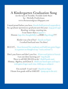 The Nature of Grace: Homeschool Theme of the Week: Homeschool Kindergarten Graduation!!!