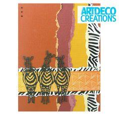 Wild & Free Zebra Card - CreateAndCraft