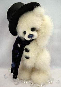 Artist Original Mink Fur Teddy Bear Ensemble by E Barnett OOAK | eBay