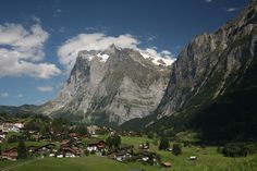 Village of Grindenwald, Switzerland