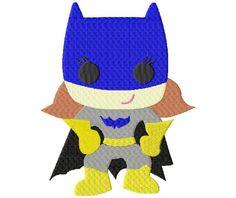 Super Hero Bat Girlie Machine Embroidery Design