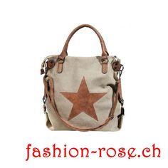 Handtasche Stern Geschnk Idee Burlap, Reusable Tote Bags, Fashion, Shopper Bag, Stars, Shoulder, Handbags, Schmuck, Moda