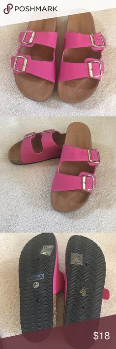 Sandal Fuchsia sandal. Never worn. Excellent condition!! Very cute Shoes Sandals