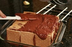 BORN AND BREAD: Ice Box Cake - use the cook & serve pudding.  After this sits in refrigerator for several hours, the crackers soften into a cake texture - then frost the whole thing with whipped cream.
