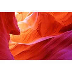 This Abstract Antelope Canyon Wall Mural exudes vibrant charm with its myriad shades of red, orange and deep pink.
