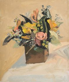 "George Nick - ""Gail's Flowers. 30 Nov 2013"", 2013 - Oil on linen"