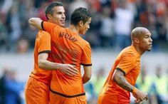 Robin van Persie, Ibrahim Afellay and Nigel de Jong