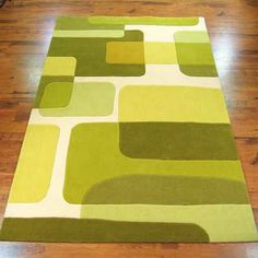 Pop Art 135 63 Green Rugs Modern