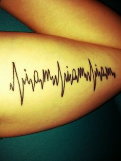 """heart monitor """"I am, I am, I am"""" text tattoo on the arm, inspired by """"Sylvia Plath'sThe Bell Jar: 'I took a deep breath and listened to the old bray of my heart: I am. I am. I am.' My heart says I am"""""""