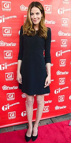MICHELLE MONAGHAN Her three-quarter sleeve LBD and pumps may be basic, but the actress's perfectly blown-out and highlighted hair is worth talking about at the Fort Bliss premiere in Alexandria, Va.
